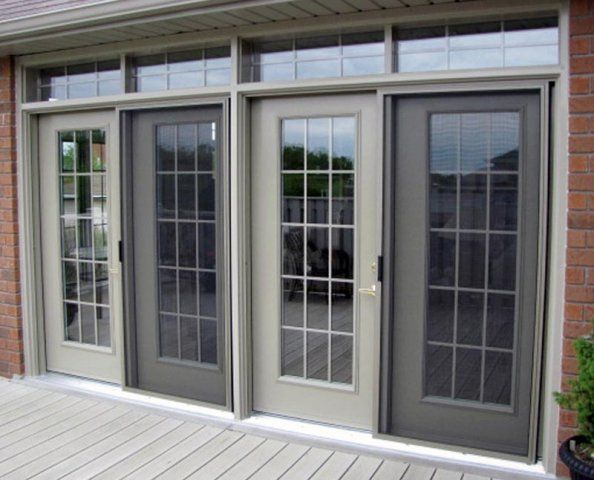 To Use Double Phantom Screens Instead French Doors Patio French Doors Aluminium French Doors