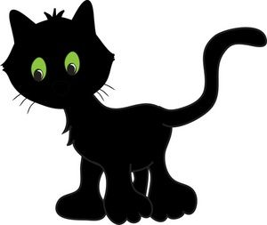 Luca Chose This Cute Little Black Cat Cartoon With Images