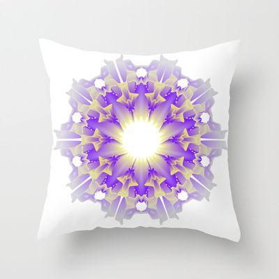 Mandala Throw Pillow by Ketina - $20.00