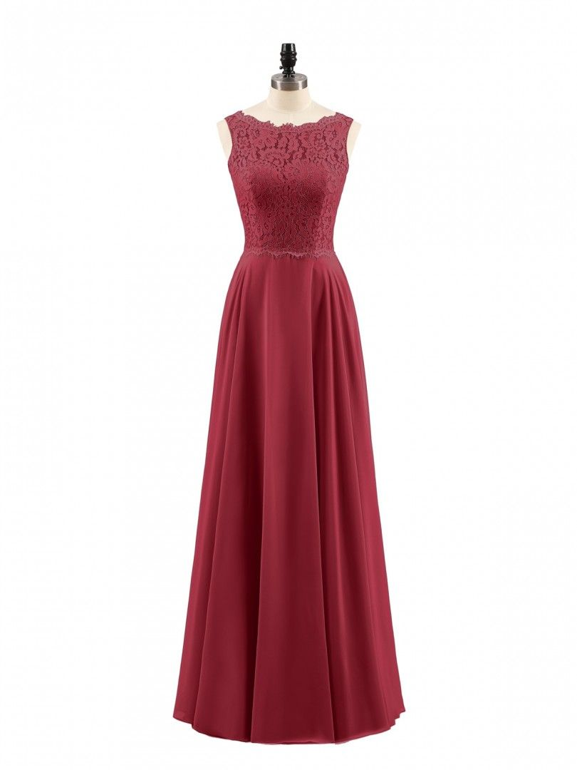 24e77aaedc0 Burgundy Tabitha Lace Bodice Chiffon Skirt Long Dress