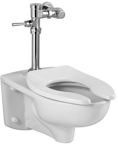 American Standard 3351 001 Afwall One Piece Elongated Toilet With Right Height Bowl Faucetdirect Com One Piece Toilets Commercial Toilet Wall Mounted Toilet