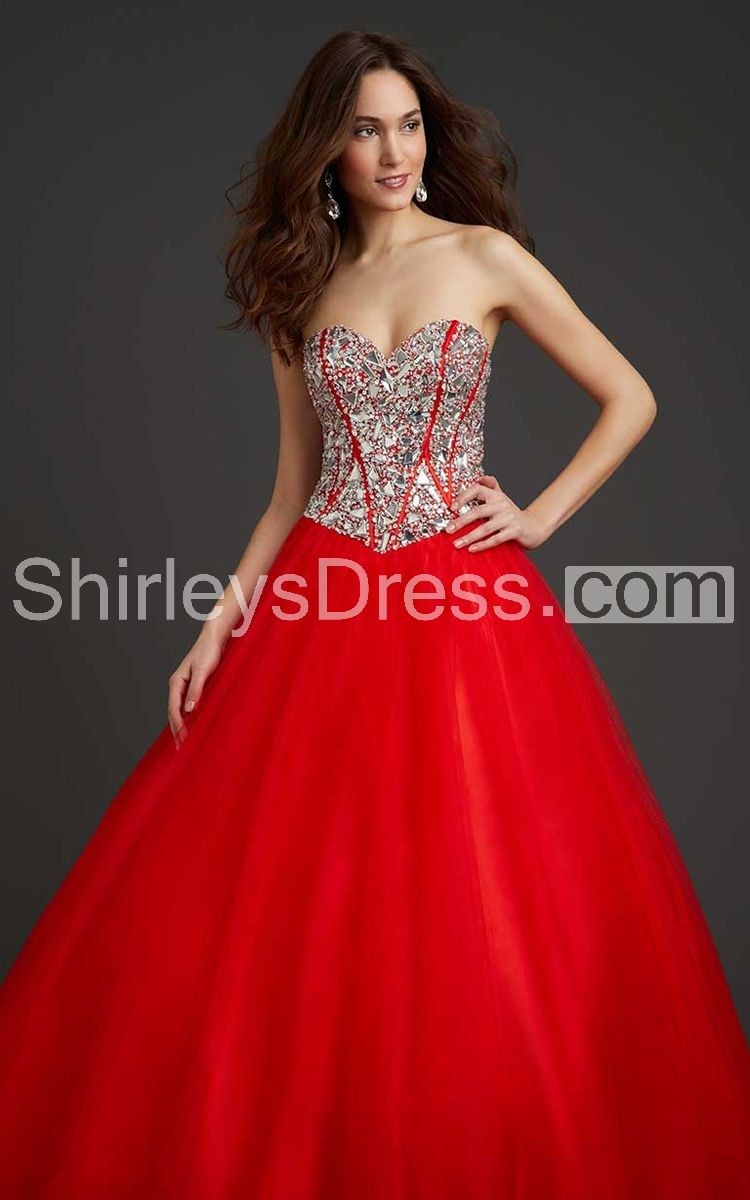Gemmed sweetheart dress with bonned sequinced top and pleats