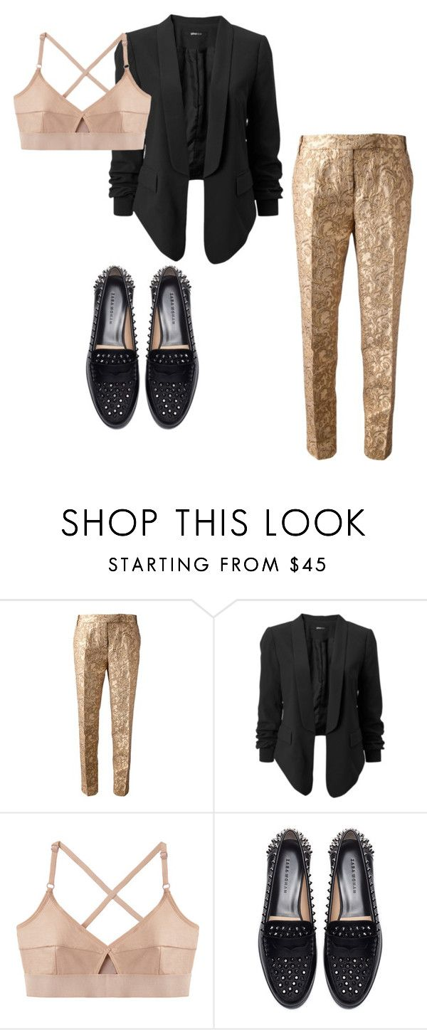 """""""Untitled #24"""" by z-ahraa ❤ liked on Polyvore featuring Galitzine, Base Range and Zara"""
