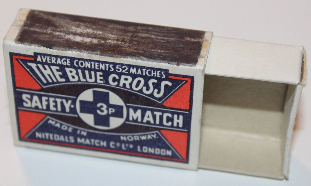 Blue Cross Norway Safety Matchbook Cover Empty Box