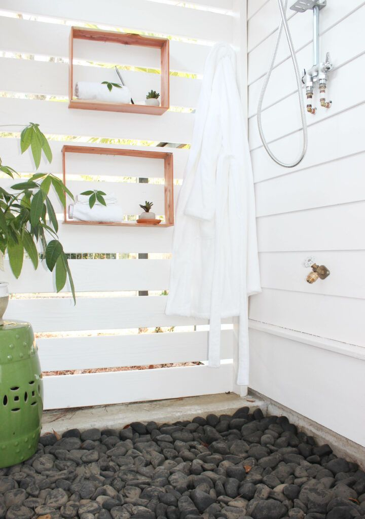 Easiest box shelving for my outdoor shower i have always