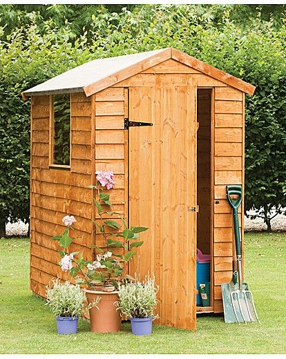 Wooden Overlap Shed 6 x 4