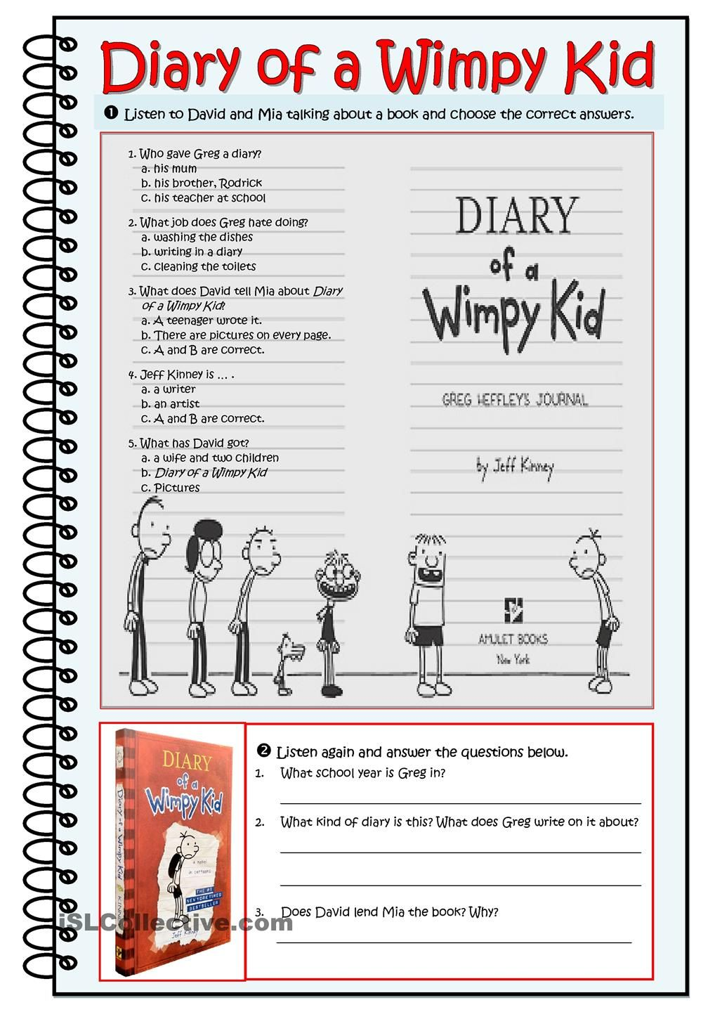 Writing future tense of verb worksheet turtle diary - Diary Of A Wimpy Kid Worksheet Comprehension Activitiesreading Comprehensionverb Tenseswimpy