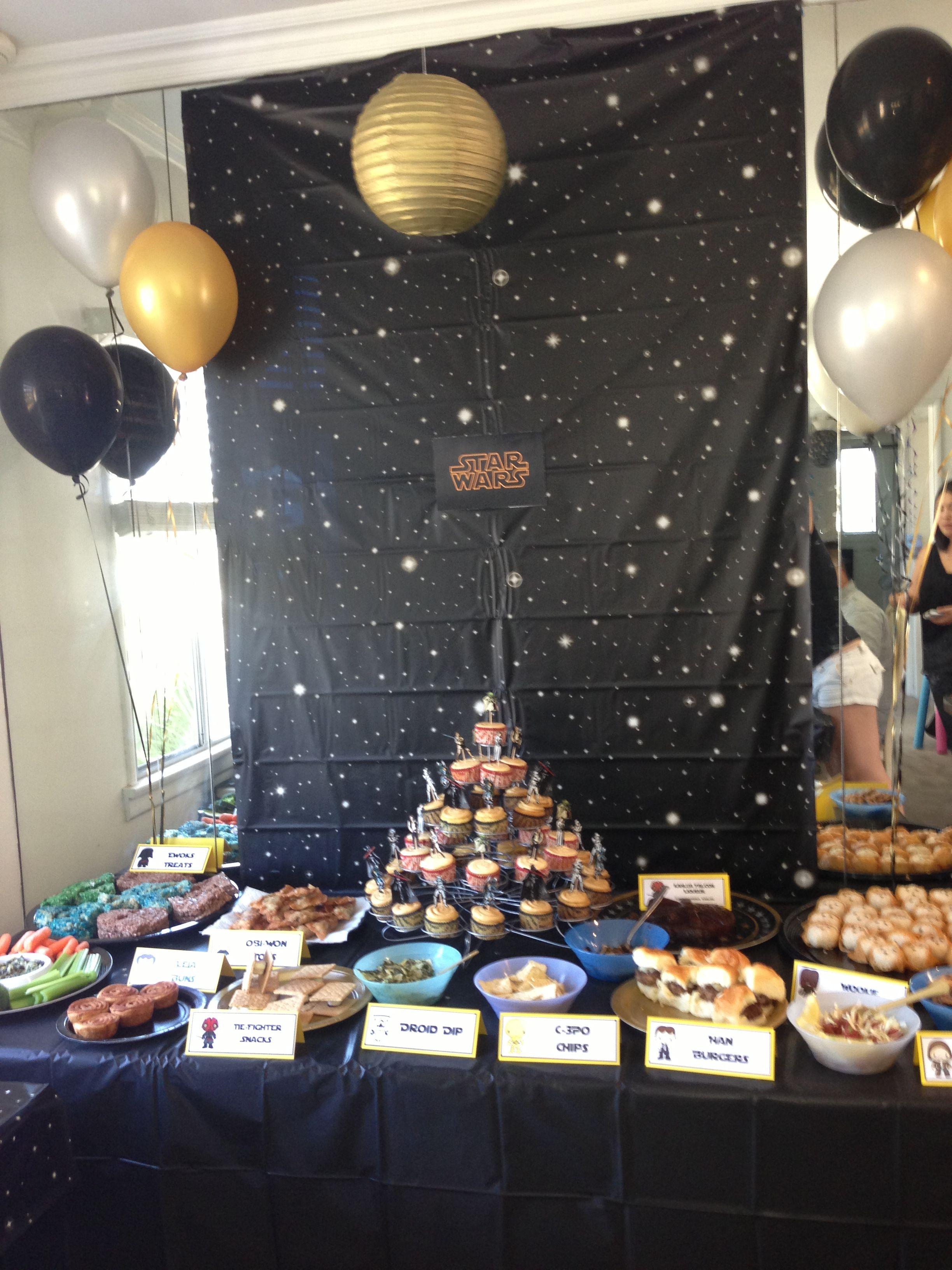 Star Wars theme 30th birthday party