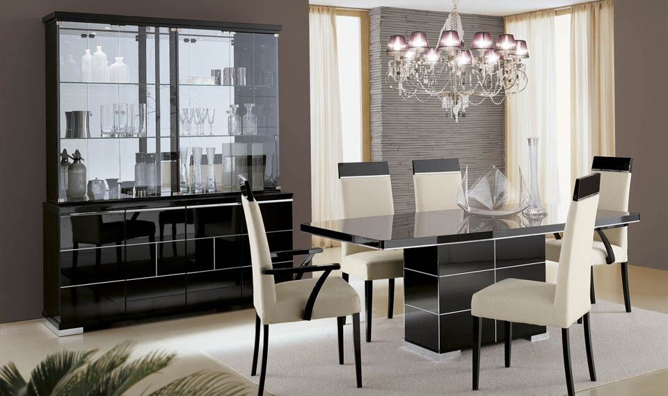 The Mont Blanc Dining Set With A Gorgeous Laquer Finish By ALF Italia Is Available At Advance Furniture In Buffalo NY