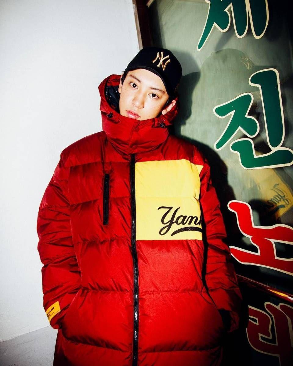 Mlb X Exo Chanyeol F W Collection Photoshoot Chanyeol Exo Chanyeol Exo