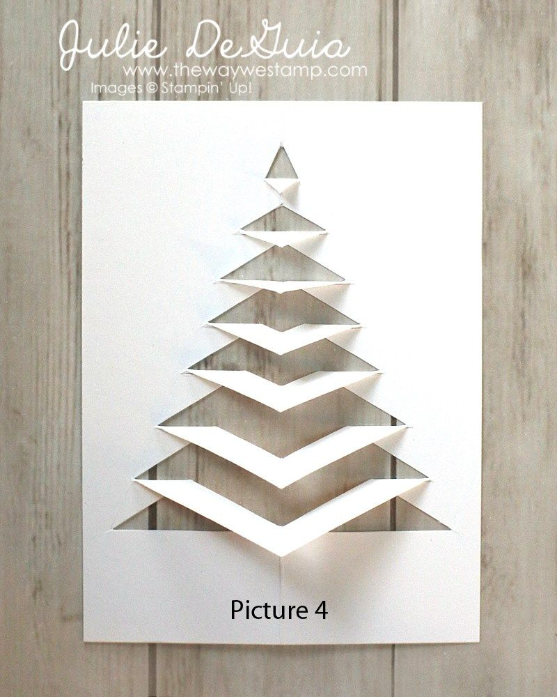 Lace Fold Card Instructions | The Way We Stamp | Julie DeGuia | Holiday Card Ideas | Paper Christmas Tree | Christmas Cards