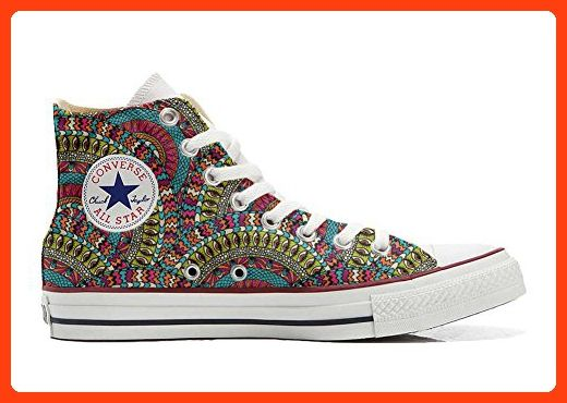 Converse All Star Hi Customized personalisierte Schuhe (Handwerk Schuhe) Mexican Texture