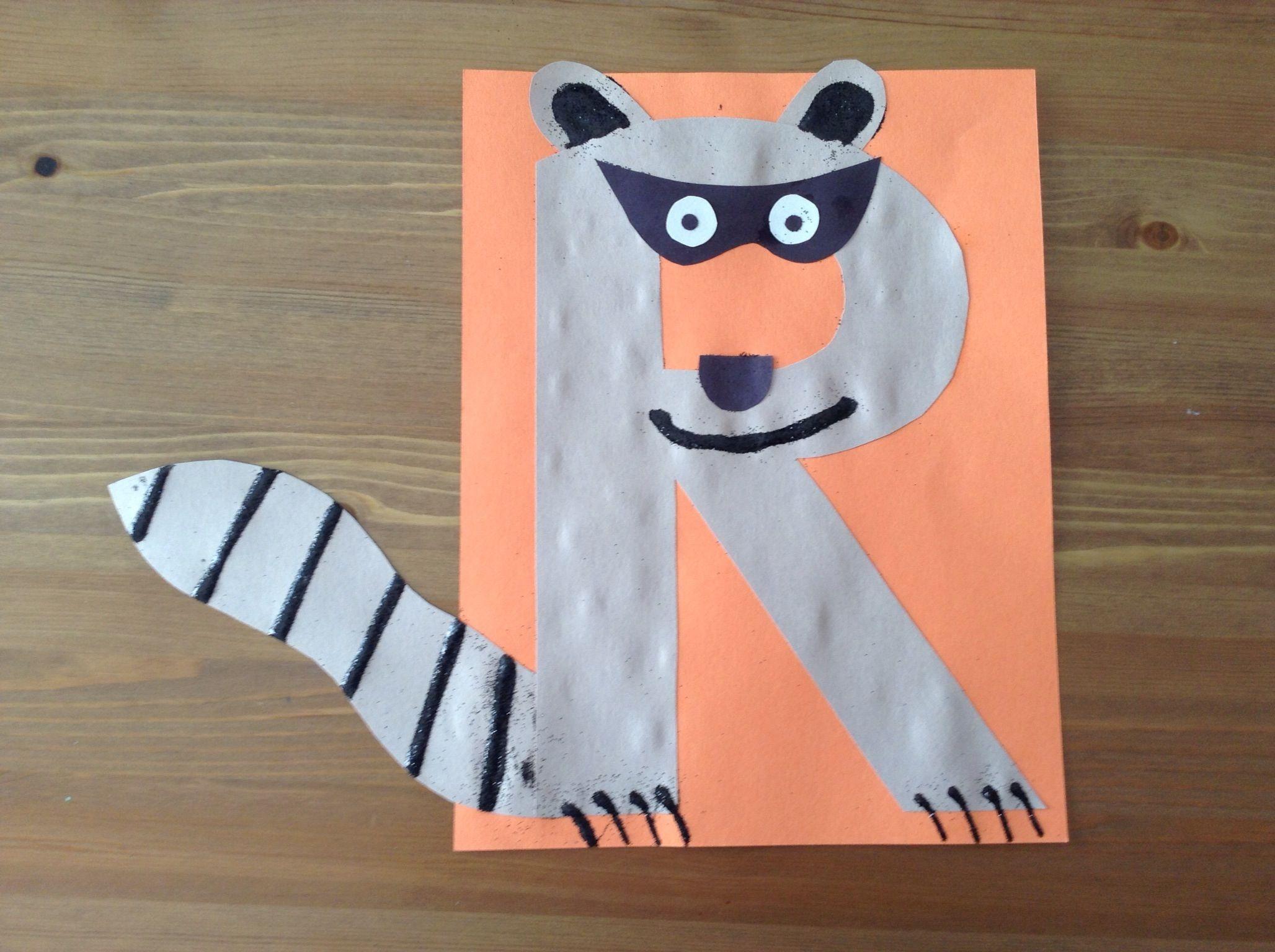 r is for raccoon craft - preschool craft