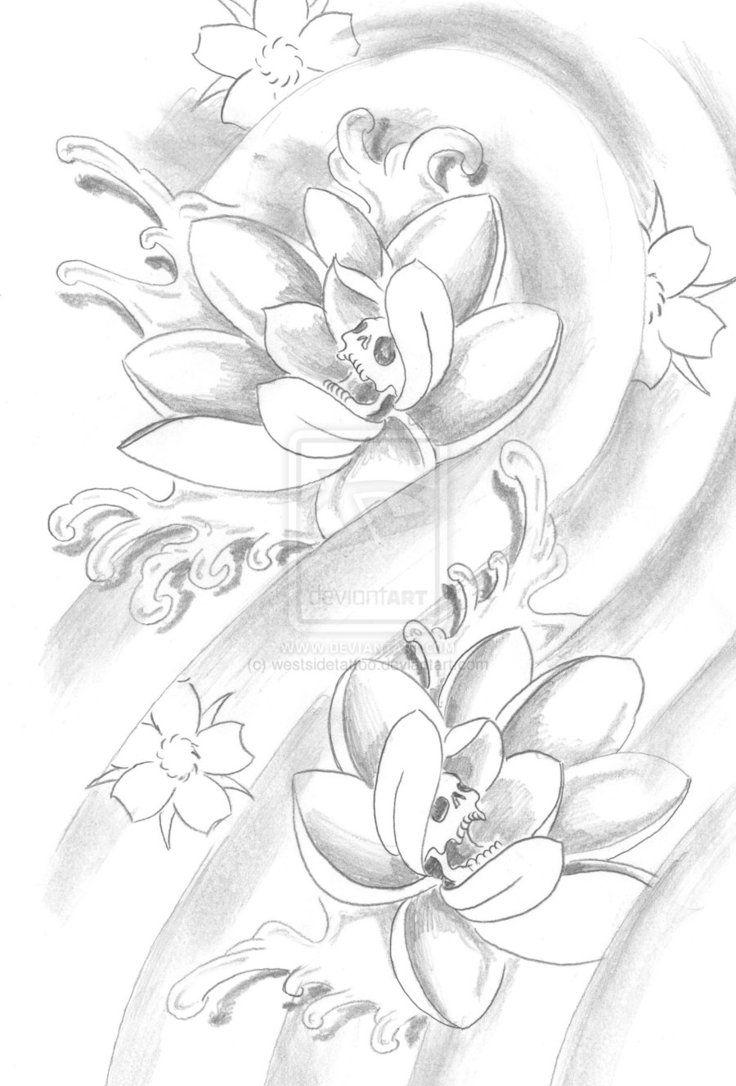 Lotus Sketch By Westsidetattoo On Deviantart Tattoo Pinterest