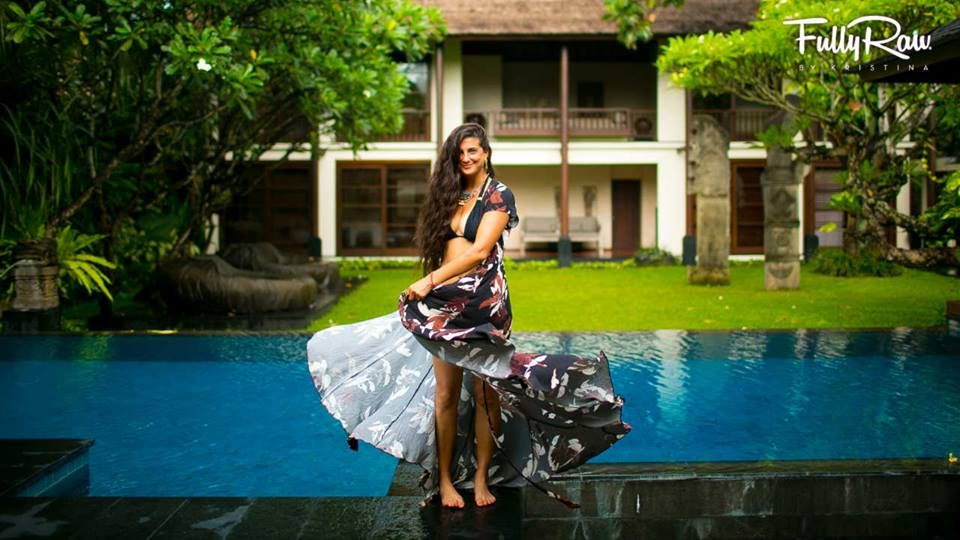 Kristina at a villa in Bali