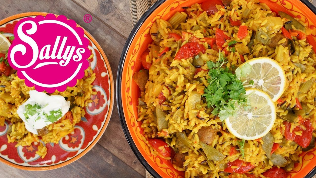 Gemüse-Reispfanne mit Joghurtsoße / vegetarisch | Rezepte Sallys ...