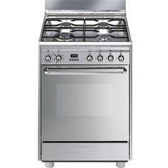 SMEG SCBMX Cuisinière Mixte Four électrique L - Cuisiniere electrique four chaleur tournante pour idees de deco de cuisine