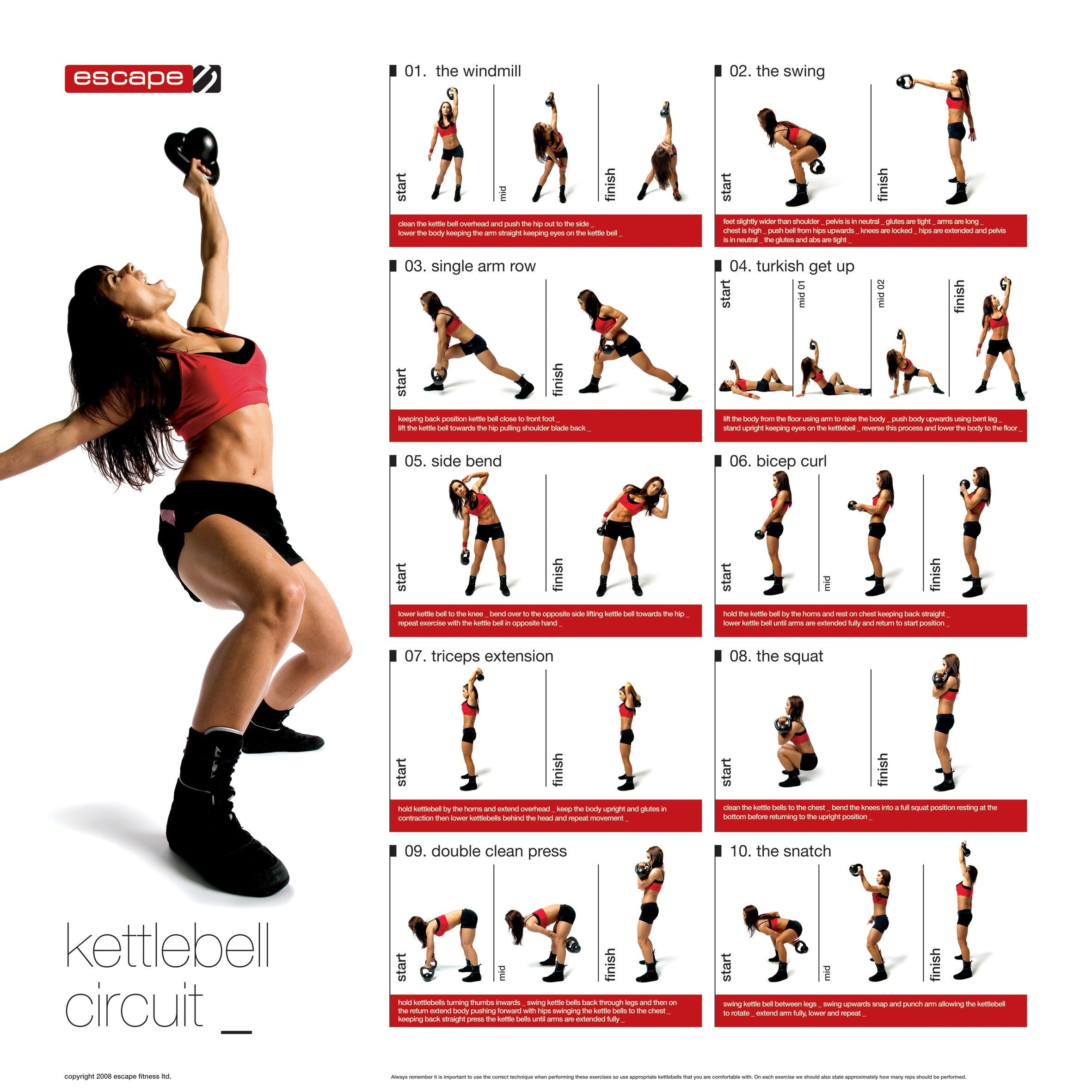 Printable Kettlebell Workout Chart Yourviewsite Co