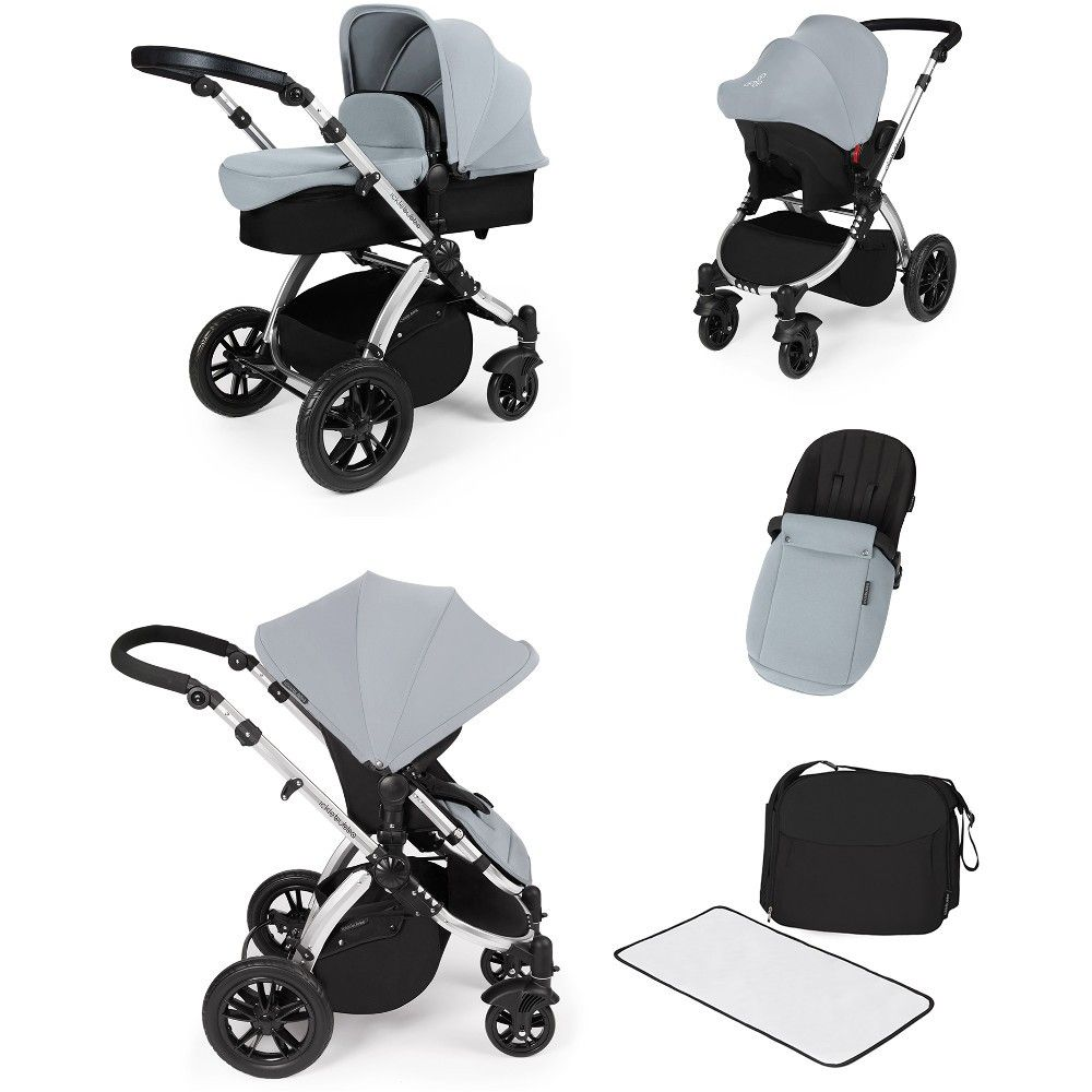 Ickle Bubba Stomp V2 Silver All In One Travel System Silver  # Muebles Ros Bubua