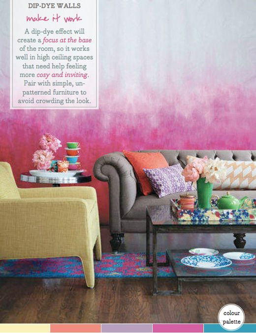 Palette Addict: How To Get Dip-Dye Walls Right | Pinterest | Dip ...