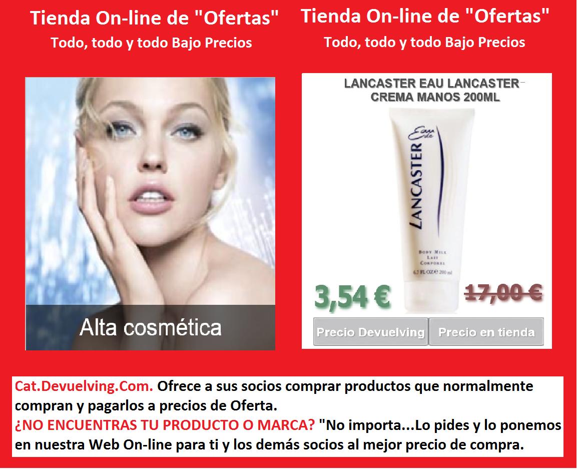 Devuelving Tienda Online y Comercio por Internet: LANCASTER EAU LANCASTER CREMA MANOS 200ML. Devuelv...