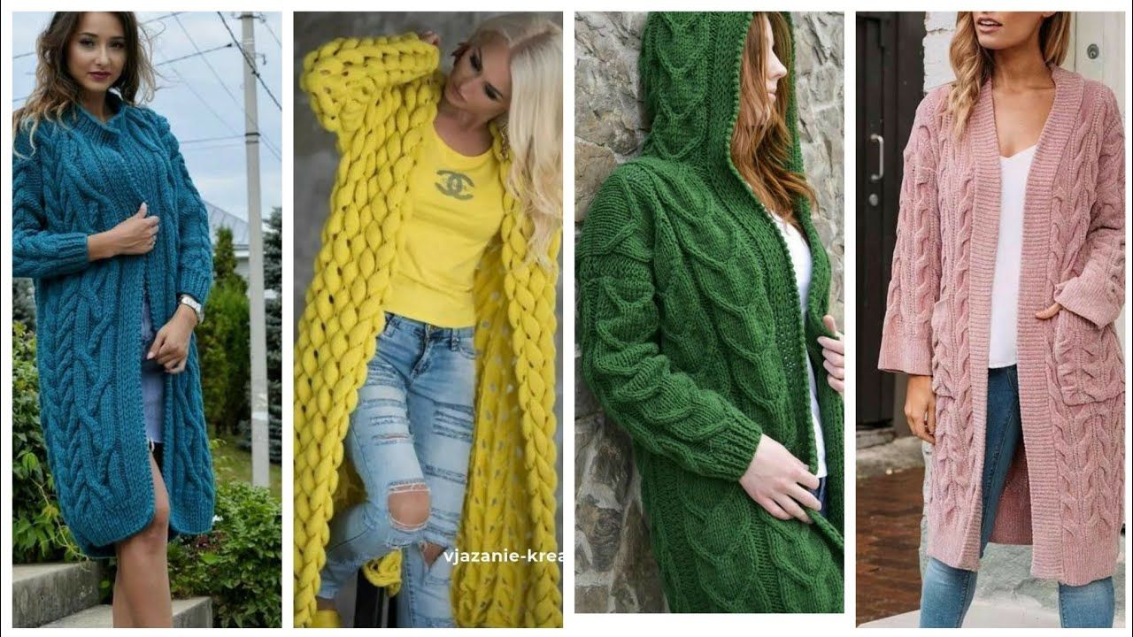 Stylish Hand knitting Long Cardigans Different Designs Ideas