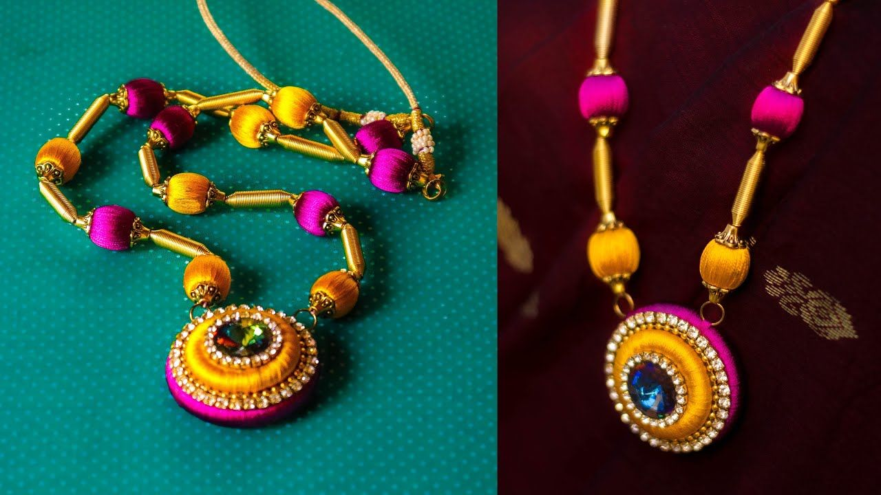 How to make wooden Bead Necklace Diy jewellery