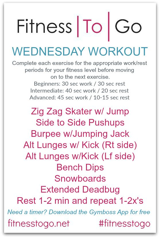 pinterest wednesday workout circuit style hiit workout quick and