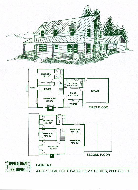 Fairfax - 4 Bed, 2.5 Bath, 2 Stories, 2260 sq. ft ...