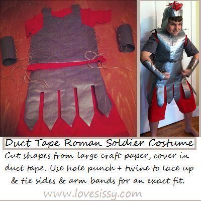 Homemade roman soldier costume easy halloween costumes made with homemade roman soldier costume easy halloween costumes made with freaking duct tape solutioingenieria Choice Image