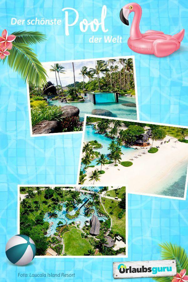 der schönste pool der welt  luxus im laucala island