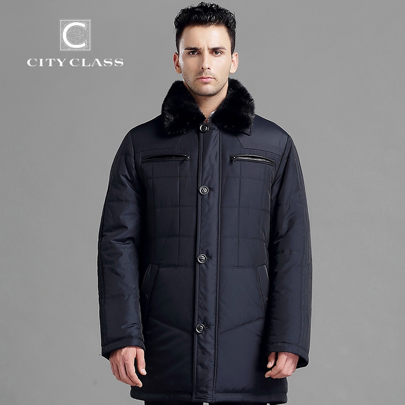 91.84$  Watch here - http://alih8m.worldwells.pw/go.php?t=32277686033 - CITY CLASS New Men Thick Warm Winter Jacket Classic Slim Fit Long Coats Leather Thinsulate Removable Mink Collar Outerwear 14343 91.84$