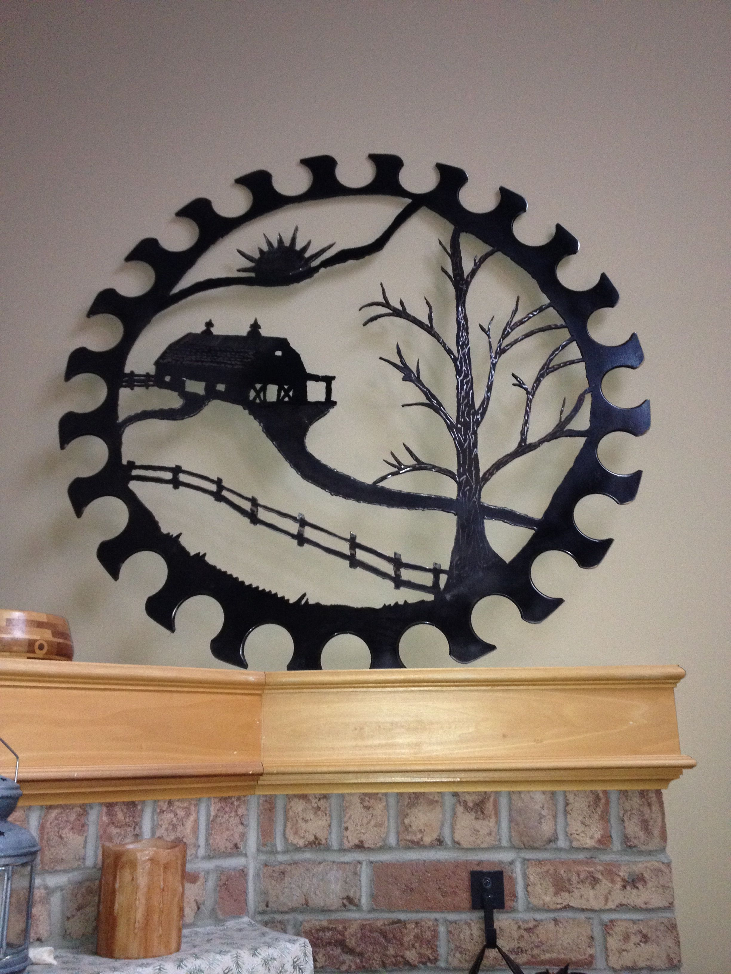 36 inch saw blade art | Welding and yard art | Pinterest | Blade ...