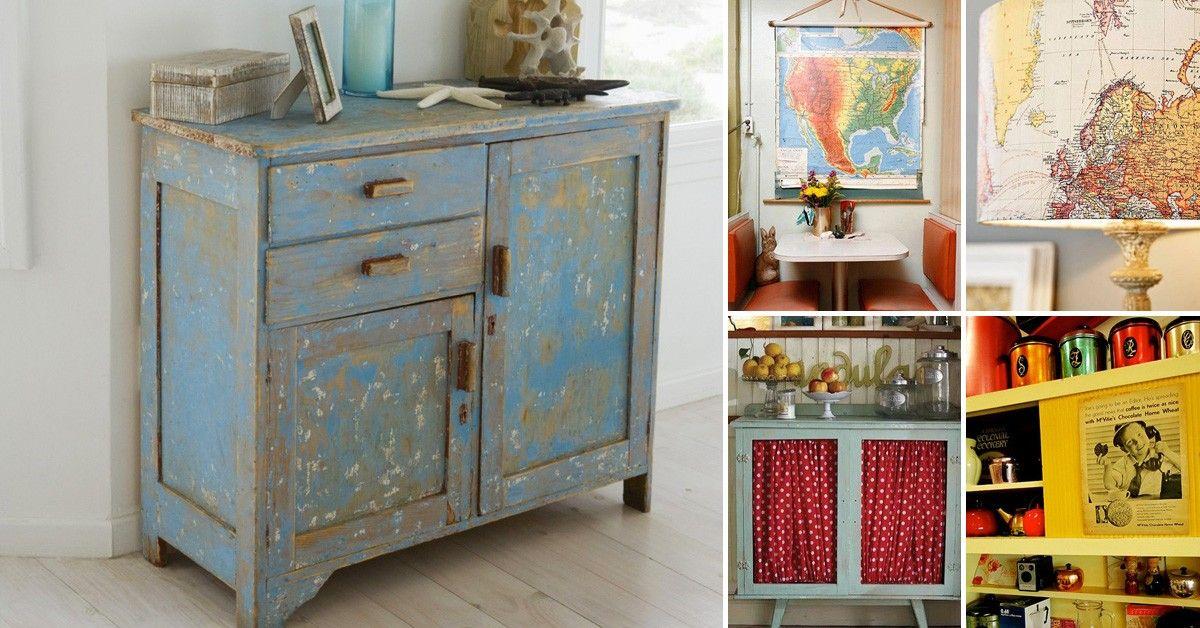 15 ideas para decorar tu hogar con estilo vintage ideas para el hogar pinterest farmhouse - Objetos vintage para decorar ...