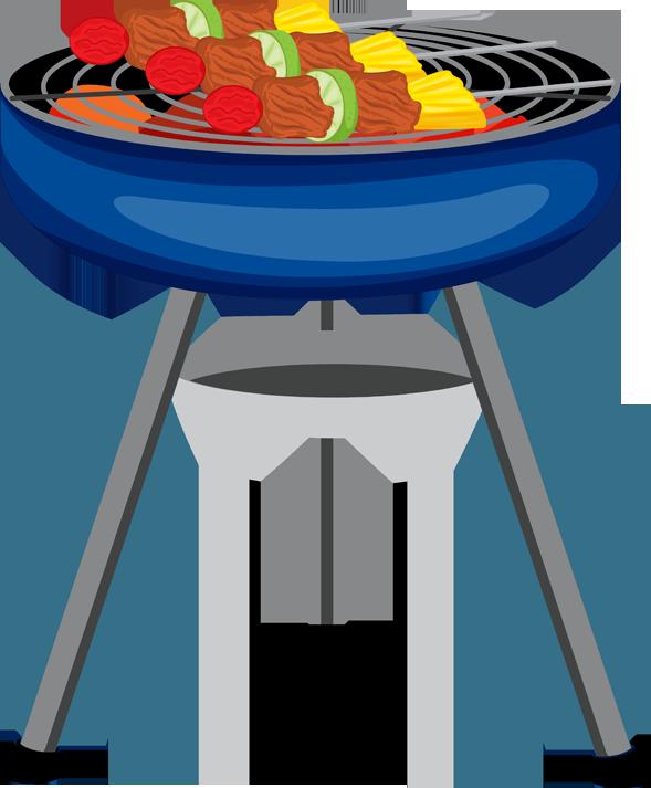 Web design clip art and bbq grill