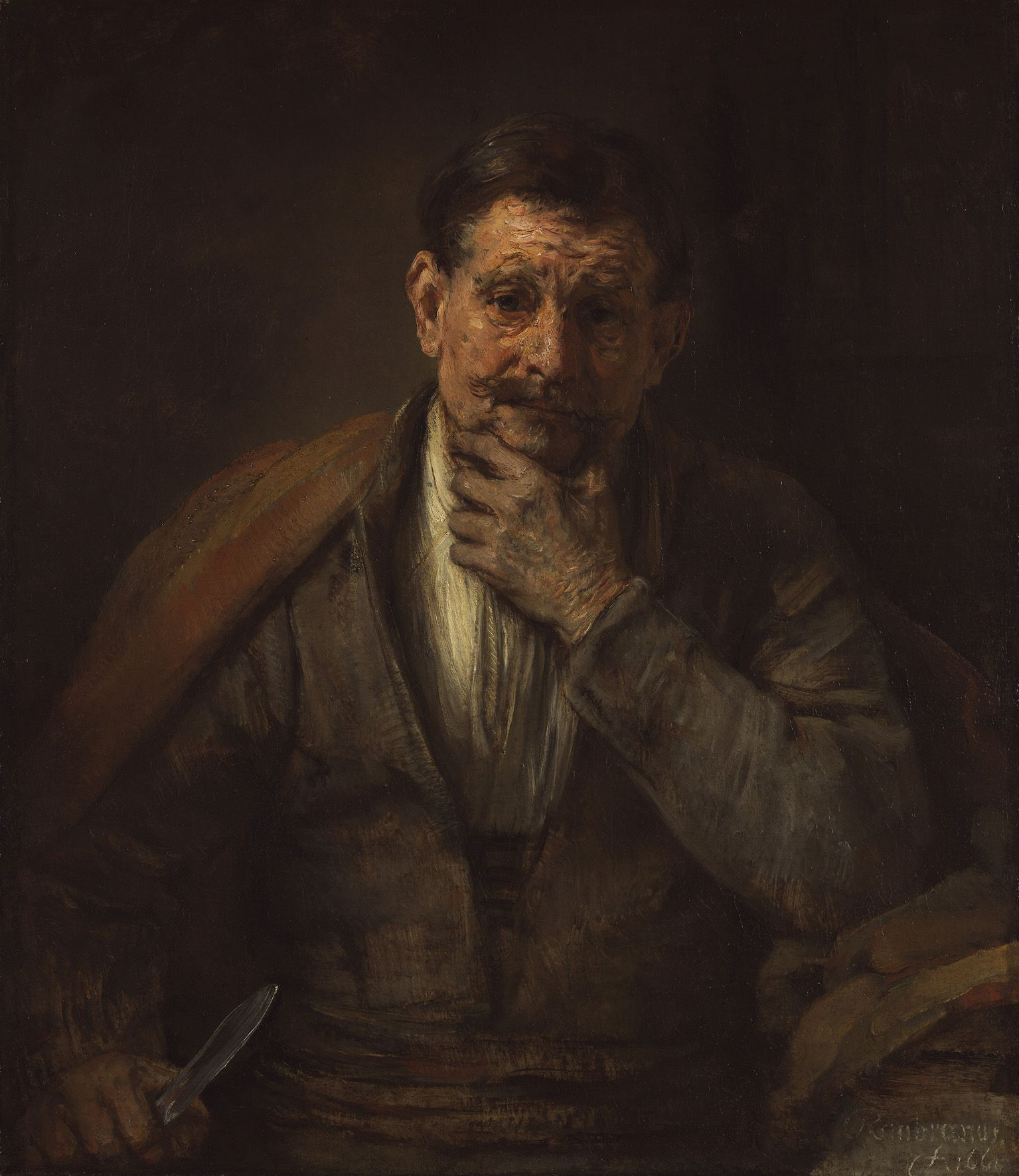 Rembrandt, The Apostle Bartholomew, 1661. Oil on canvas 86.7 x 75.6 cm © The J. Paul Getty Museum, Los Angeles, California (71.PA.15)