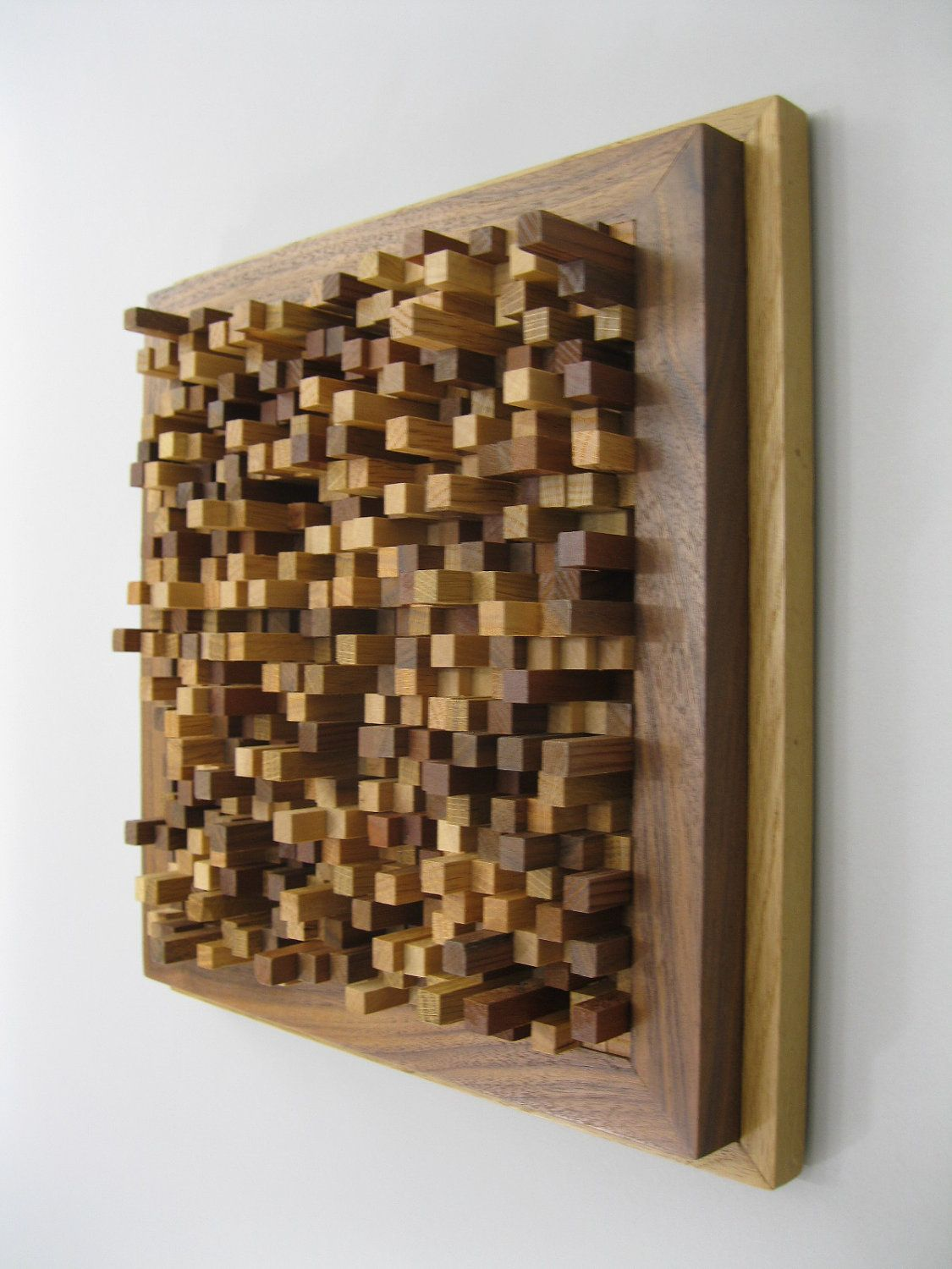 Modern wood wall hanging sculpture 15 off at checkout 187 for Designer wall art