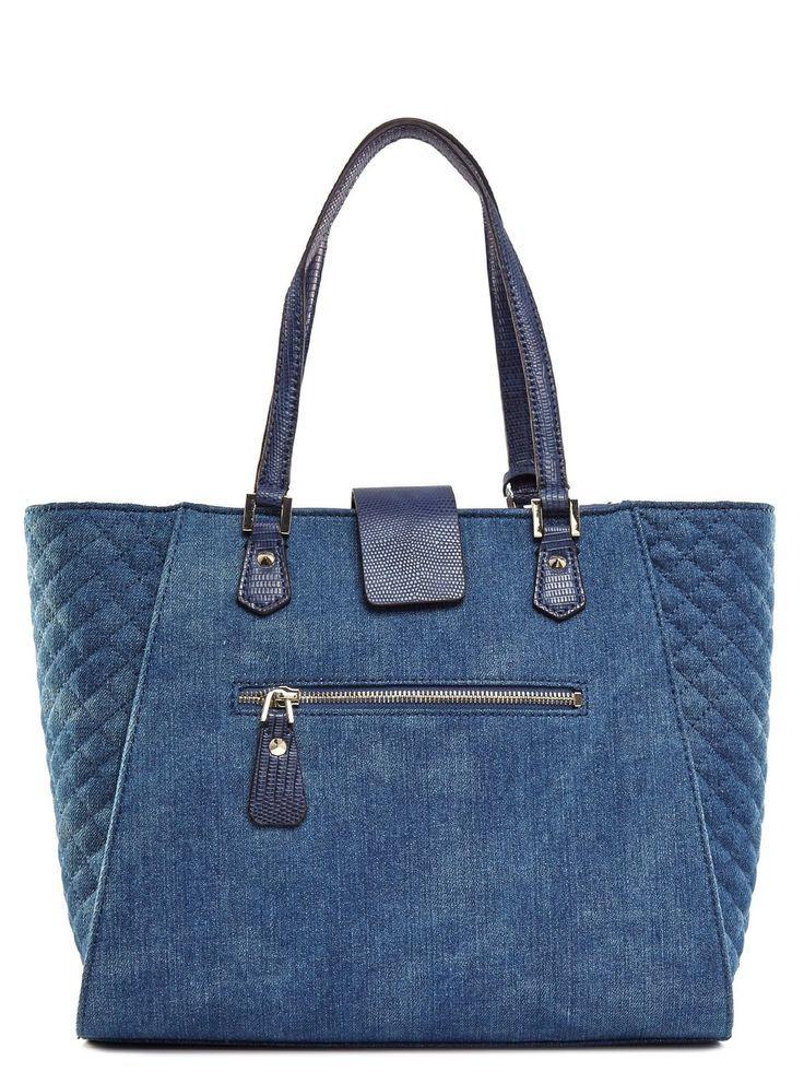 new styles 6486a d2450 GUESS Frauen Kalen Carryall Denim Tote: Handtaschen: Amazon ...
