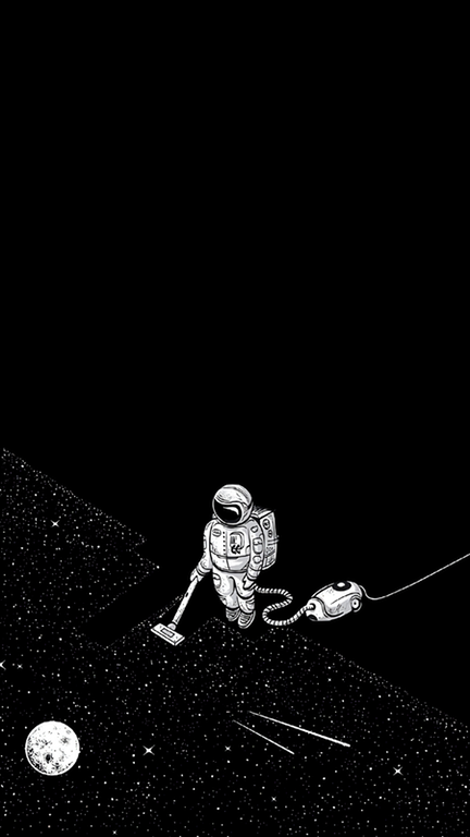 A Guy Vacuuming Space Improved 1800x3200 95 5 Black Credits To U Deathshotcs Amoledb Iphone Wallpaper Tumblr Hipster Hipster Wallpaper Dark Wallpaper
