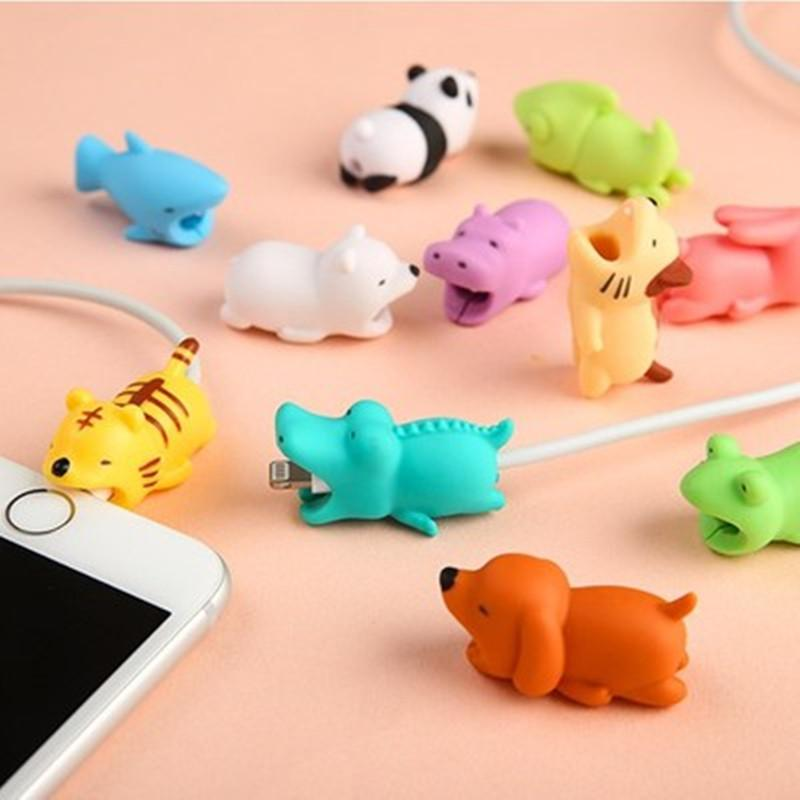 1pc Cute Bite Cartoon Animal Cable Protector Cord Wire Protection Mini Cover Charging Cable Winder High Quality Protector New To Enjoy High Reputation At Home And Abroad Accessories & Parts Cable Winder