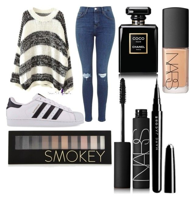 """""""Untitled #9"""" by kartseva-ana on Polyvore featuring adidas Originals, Chanel, NARS Cosmetics, Marc Jacobs and Forever 21"""