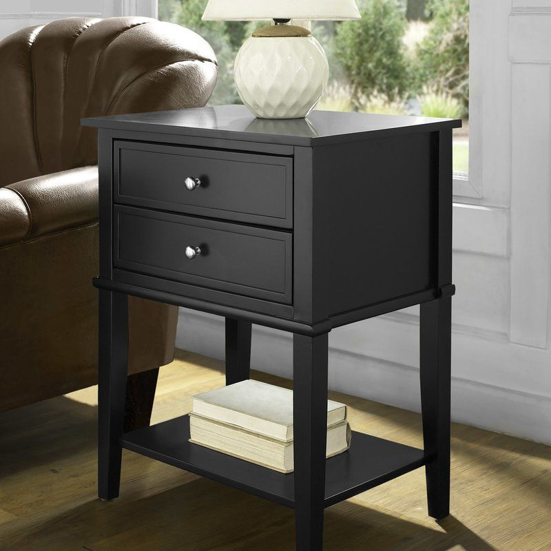 Winfield End Table With Storage Side Table With Storage End