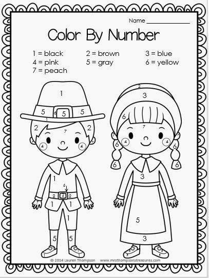 Thanksgiving Printables | Pilgrim, Thanksgiving and Number