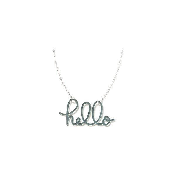 Hello Necklace in Ocean from Color by Amber ❤ liked on Polyvore featuring jewelry, necklaces, color by amber, amber necklace, amber jewelry and amber jewellery