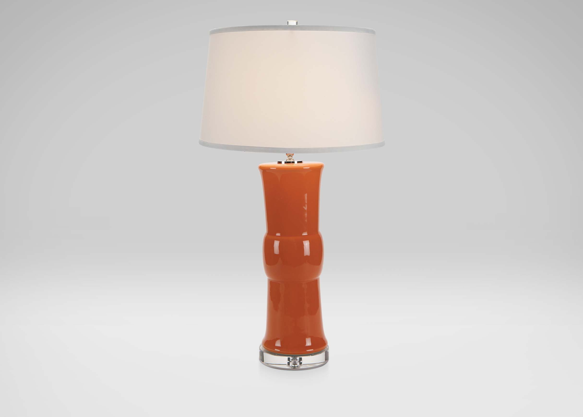 "Caprice Table Lamp Tangerine Dimensions 7""dia x 33""h"