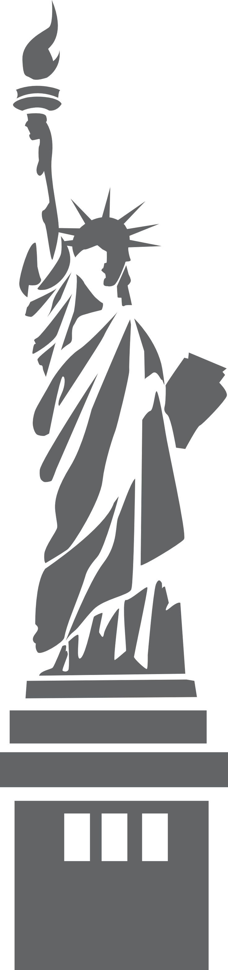 Statue Of Liberty Ny 800px Png 800 3396 Silhouette Art Silhouette Stencil Art