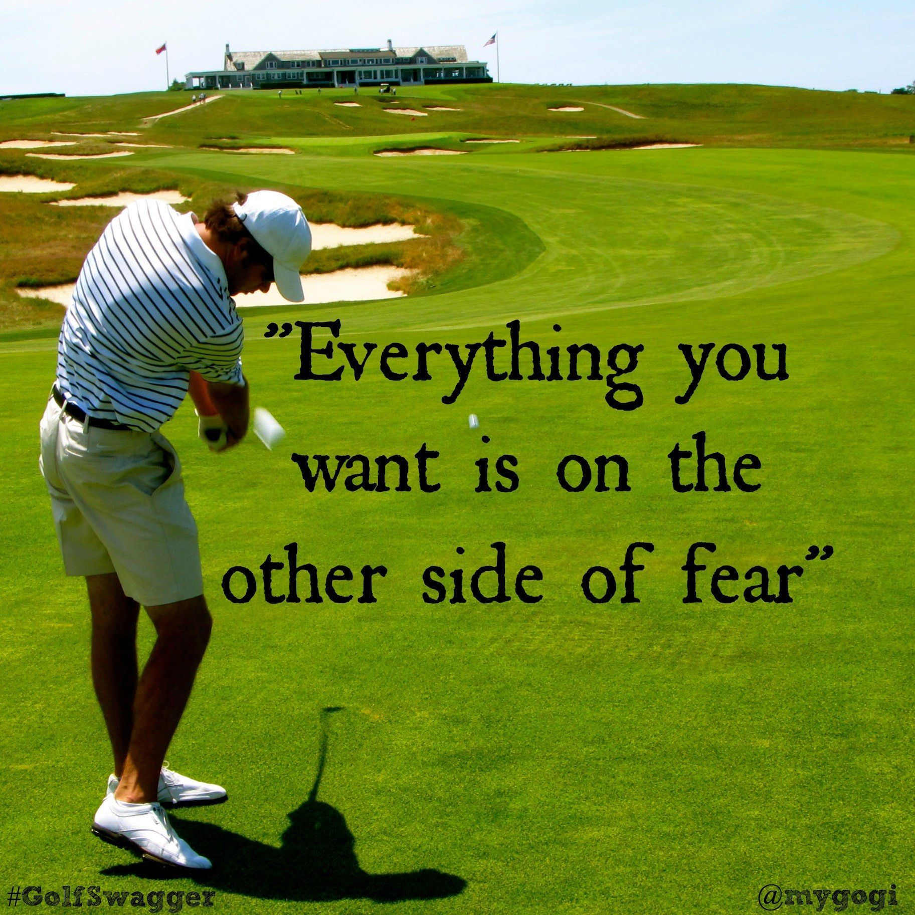 Inspirational Golf Quotes Take Every Chance Drop Every Fear Golfswagger Golf Quotes