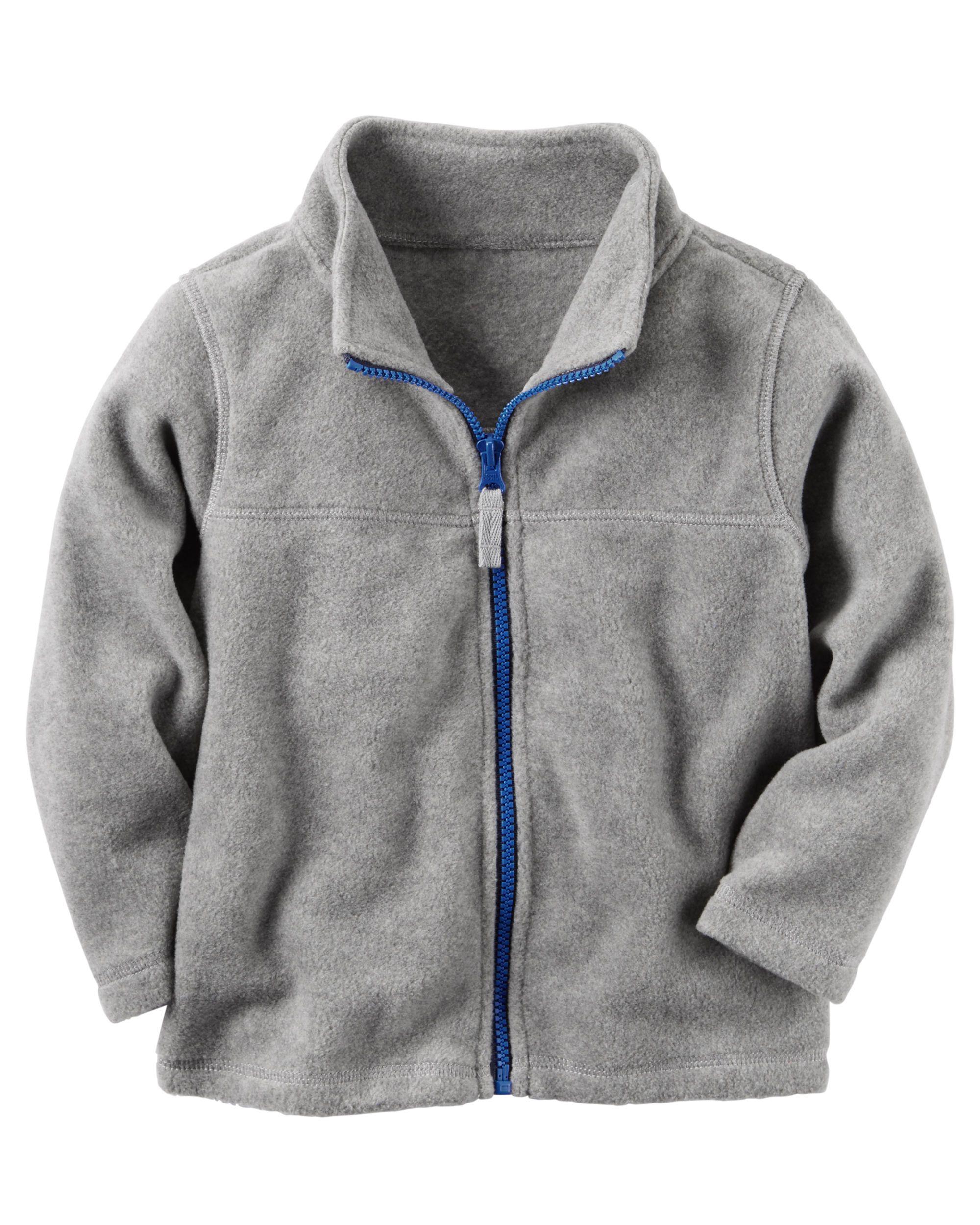 ZipUp Heavyweight Fleece Jacket Baby boy tops Carters baby boys