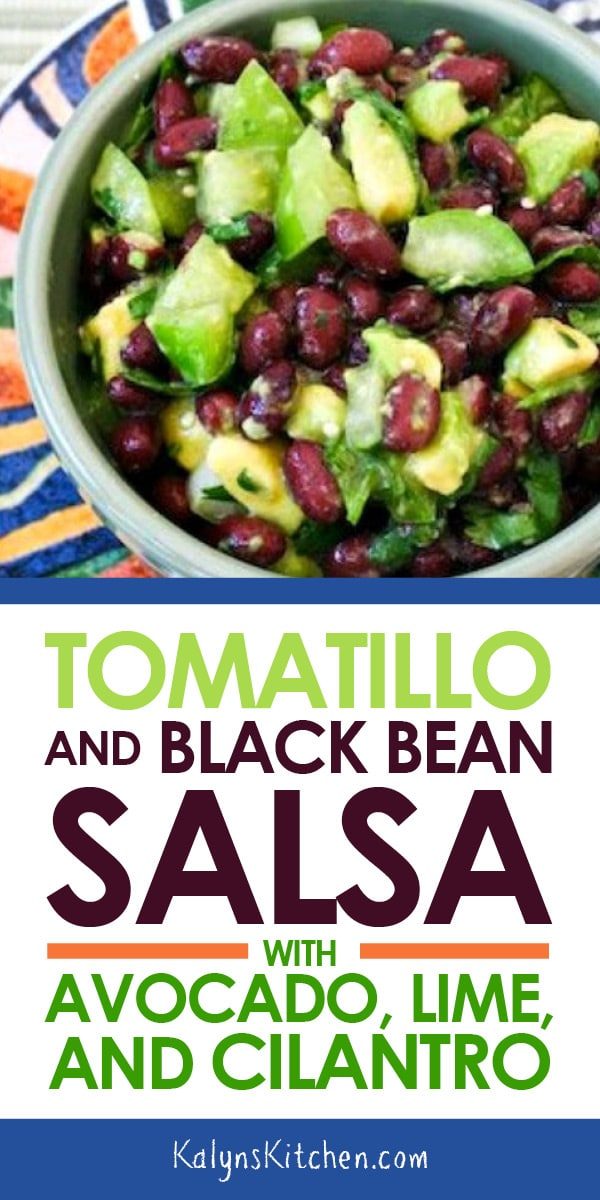 Tomatillo And Black Bean Salsa With Avocado Lime And