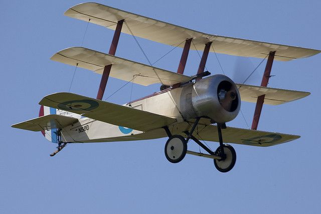 Sopwith Triplane- so, so neat. Don't see triplanes too often.